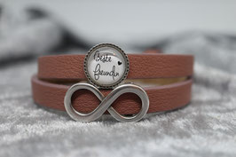 "Armband rose ""Beste Freundin"" & Unendlich"
