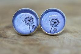Ohrring Pusteblume blau