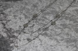"""Kette """"Coins"""" doppelt Stainless Steel silber"""