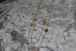 "Kette ""Coins"" doppelt Stainless Steel gold"