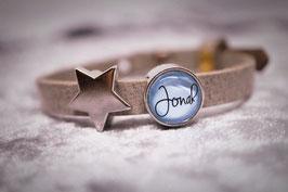 "Armband ""Stars"" mit Wunschnamen"