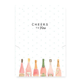 "Geschenkkarte ""cheers to you"""