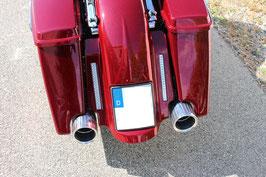 "MAXO-EXH-EXT-4""   Aluminium AlMgSi1   - Endkappe für 4"" Endrohre - Verlängert den Auspuff um 60mm (ideal bei verlängerten Hardschalen-Koffern) und Fendern) (paarweise"
