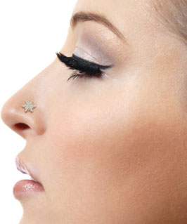 Beauty Star Nose ring -  bañado En oro de 18