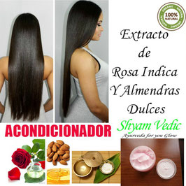 ACONDICIONADOR de Rosa Indica y Almendras Dulces - Brillo y Suavidad