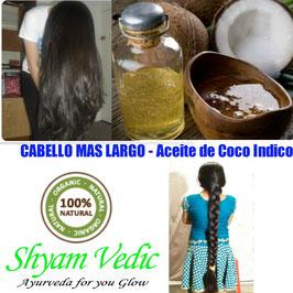 ACEITE DE COCO INDICO - Cabello mas   Largo y Saludable