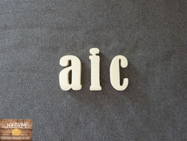 "Kleinbuchstaben ""BERNARD"" 10mm - ""S"" ca. 7cm"