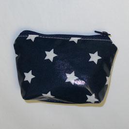 Krimskramstäschli (beschichteter Stoff) dunkelblau Sterne