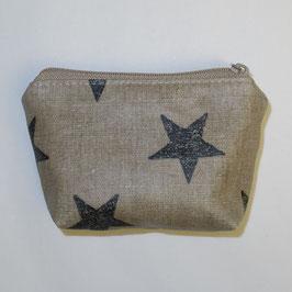 Krimskramstäschli (beschichteter Stoff) beige Sterne