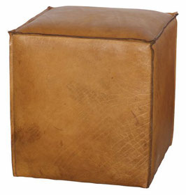 Leder Pouf LAURENT  | CASITAVERDE