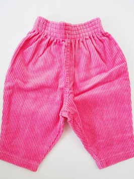 Pantalon velours rose T.6M