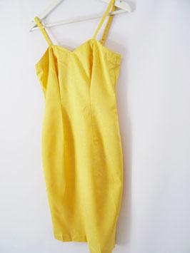 Robe jaune Satin