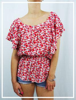 T-shirt Fleurs T.M/L