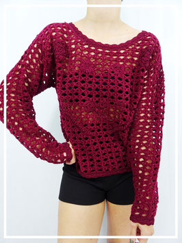 Top Crochet Velours T.M