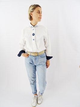Chemise blanche et bleue T.M/L