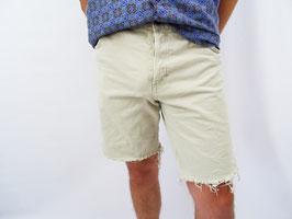 Short en jean beige