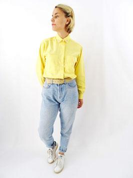 chemise brodée jaune T. S/M