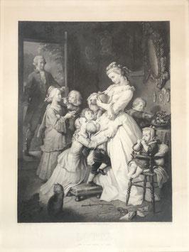 """Antike Radierung """"Lotte. Leiden des jungen Werthers von Goethe"""""""