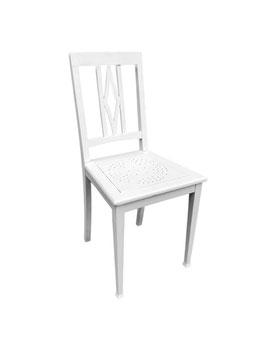 Weißer Jugendstil Stuhl