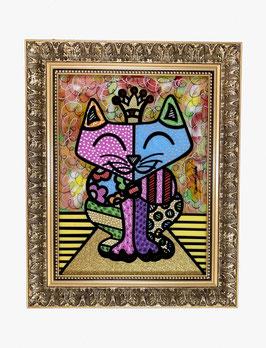 "Pop Art Gemälde ""Royal Kitty"" von Raphael Gratzl"