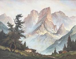 """Ölgemälde """"Almberge"""" von Berger"""