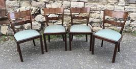 4er Satz Art Déco Stühle
