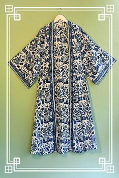 Mantel / Kimono blaue Blume