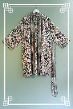 Mantel / Kimono bunte Blume