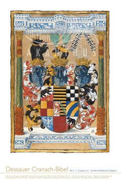 """Dessauer Cranach-Bibel """" Anhaltisches Wappen"""""""