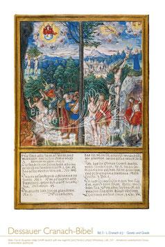 """Dessauer Cranach-Bibel """"Gesetz und Gnade"""""""