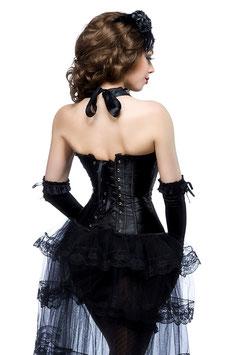 Burlesque-Satin-Corsage schwarz 00285