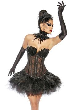 """Petticoat """"Swan"""" schwarz 00297"""