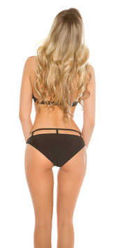 Neckholder Bikini Schwarz