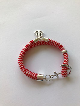 ANKERARMBAND MARITIM RED & WHITE