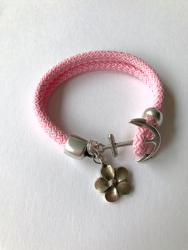SEGELSEILARMBAND FLOWER DREAM ROSA
