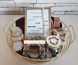 Gift set gold basket