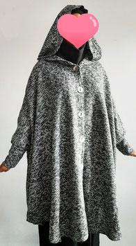 Khimaar vest met capuchon II