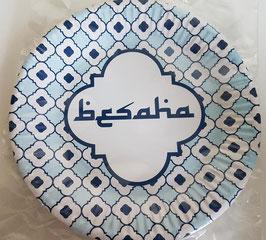 Bord Besaha blauw (6 stuks)