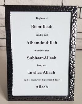 Begin met Bismillaah
