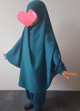 2 Delige kinder jilbab turquoise