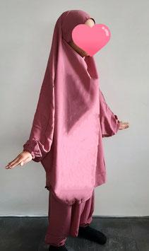 2 Delige kinder jilbab blush