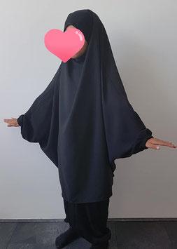 2 Delige kinder jilbab zwart
