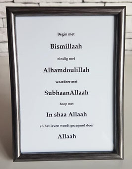 Begin met Bismillaah (zilver)