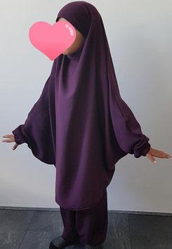2 Delige kinder jilbab paars
