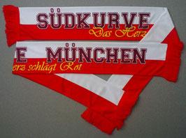 """Ultras Südkurve München Seidenschal """"Das Herz..."""""""