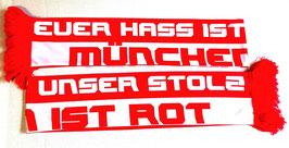 """Ultras München Seidenschal """"euer Hass..."""""""