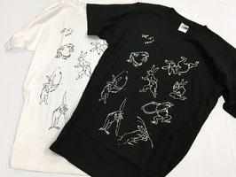 アレンジ鳥獣戯画ティシャツ