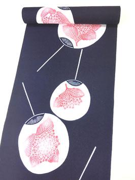 江戸浴衣 紫陽花団扇