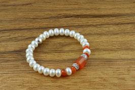 Armband - Perlen, Carneol, Silber