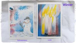 Winter Kunst-Karten